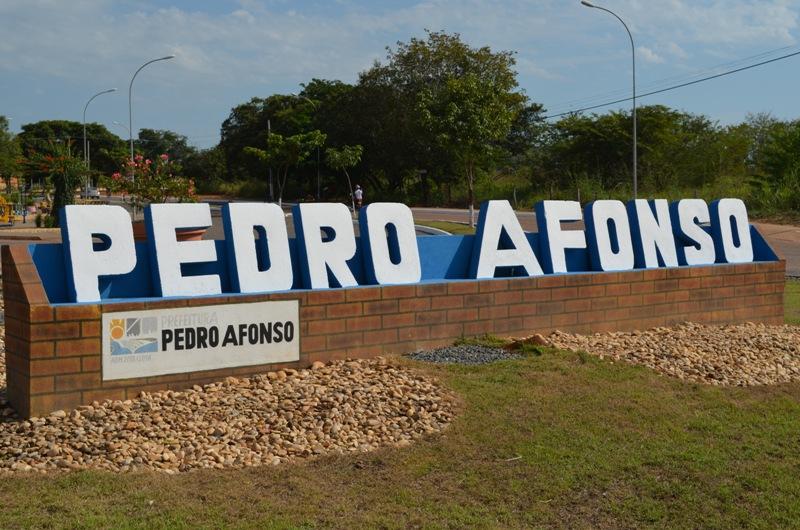 entrada da cidade de Pedro Afonso